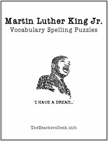 Martin Luther King Jr. Vocabulary & Spelling Puzzles