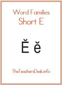 word families  short e  theteachersdesk info &